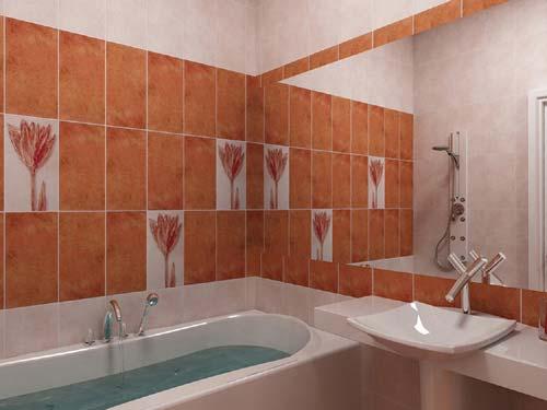 Гидроизоляция ванной комнаты финская Рукомойник Creavit MN045 красный