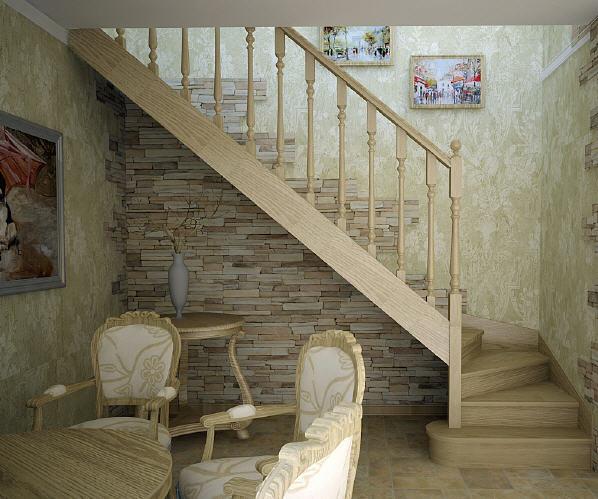 Деревянная лестница в дом своими руками фото